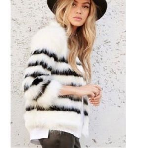 Forever 21 Fuzzy Faux Fur Coat.